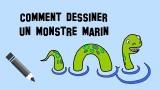 Dessiner un monstre marin qui ne fait pas peur