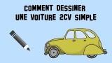 Comment dessiner une voiture, la 2cv, la célèbre deudeuch
