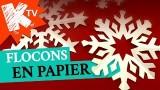 DIY pour Noël, les flocons de neige en papier