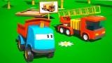 Dessin Anime Léo et le camion de pompiers