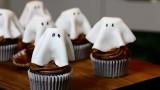 Recette Halloween, Cupcakes fantômes au chocolat