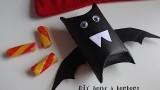 Tuto pour halloween, la boite à bonbons chauve souris