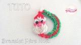 Tuto pour Noël, le bracelet du père Noël en Rainbow Loom